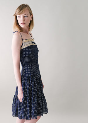 Vintage 1950s Swiss Dot Sundress