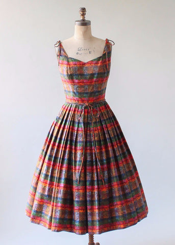 Vintage 1950s Palm Beach Summer Dress