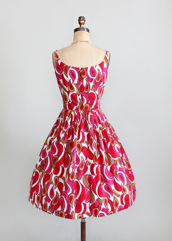1960s full skirt sundress