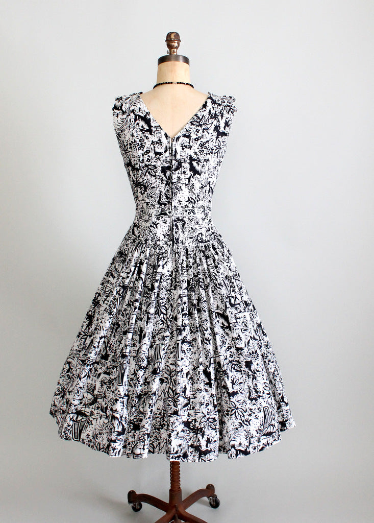1950s cotton day dress