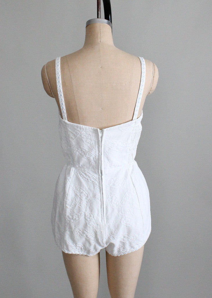 1950s white playsuit