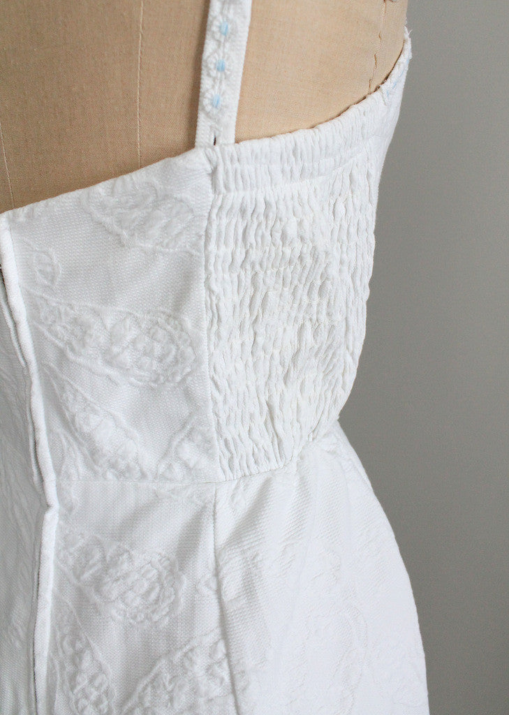 1950s white swimsuit size large