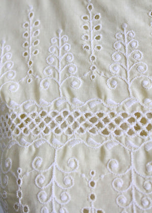 1950s eyelet lace summer dress
