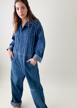 Vintage 1940s Denim Jumpsuit
