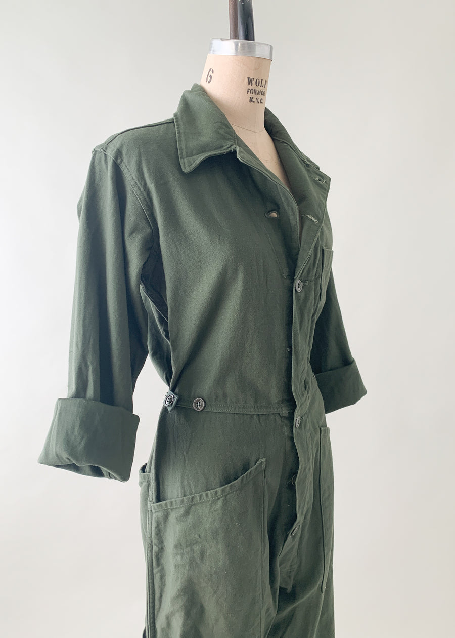 Vintage 1960s US Army Workwear Jumpsuit