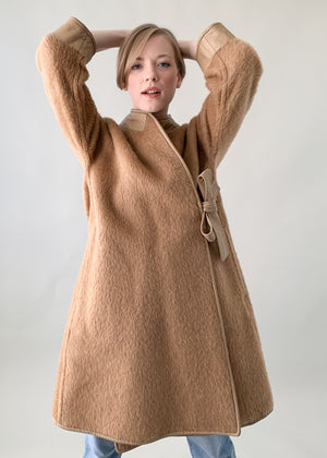 Vintage 1960s Bonnie Cashin Wool and Leather Coat