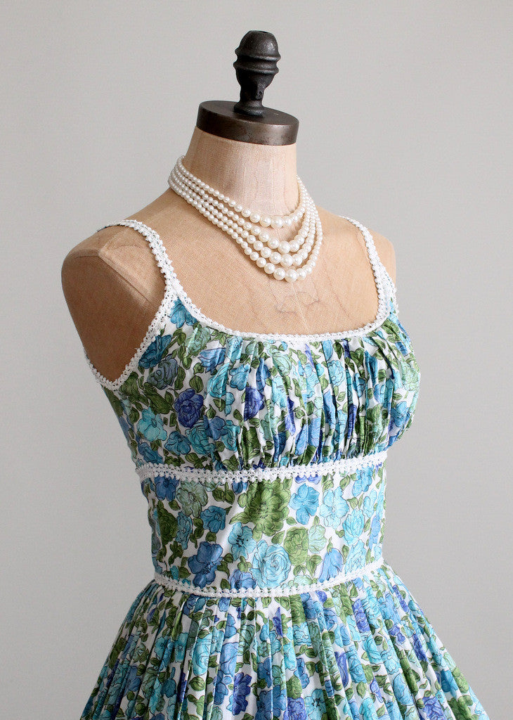 Vintage 1960s Miami Bound Floral Sundress