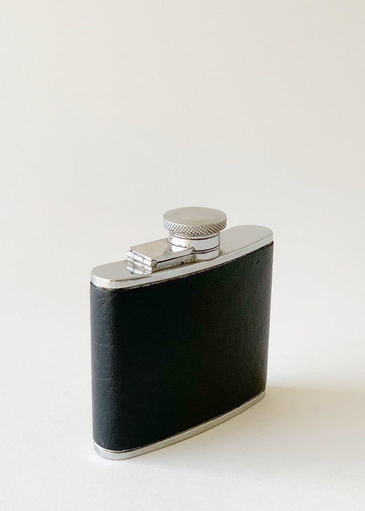 Vintage 1960s Leather Wrapped Flask