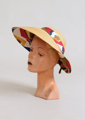 Vintage 1960s Jack McConnell MOD Beach Hat