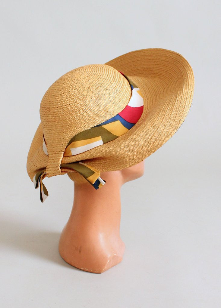 6a41bca41f749 Vintage 1960s Jack McConnell MOD Beach Hat