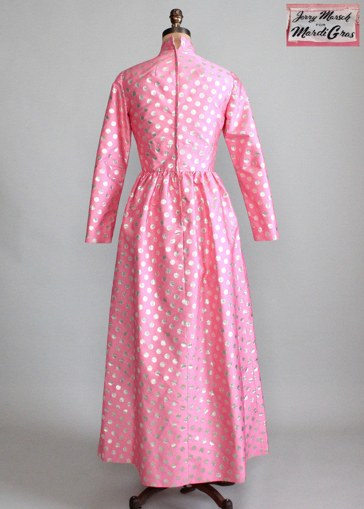 Vintage 1960s Jerry Marsch MOD Maxi Dress
