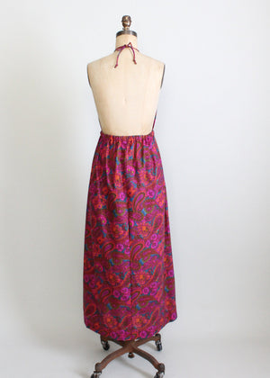 1960s MOD maxi halter dress