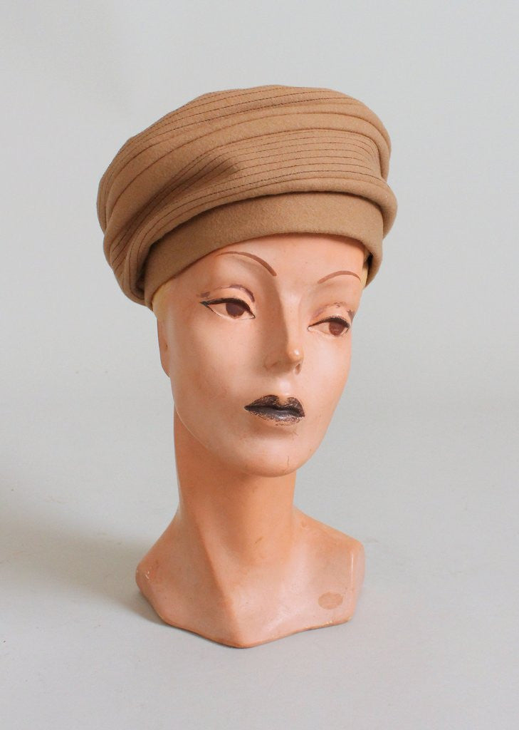 Vintage 1960s MOD Carnaby Turban Hat