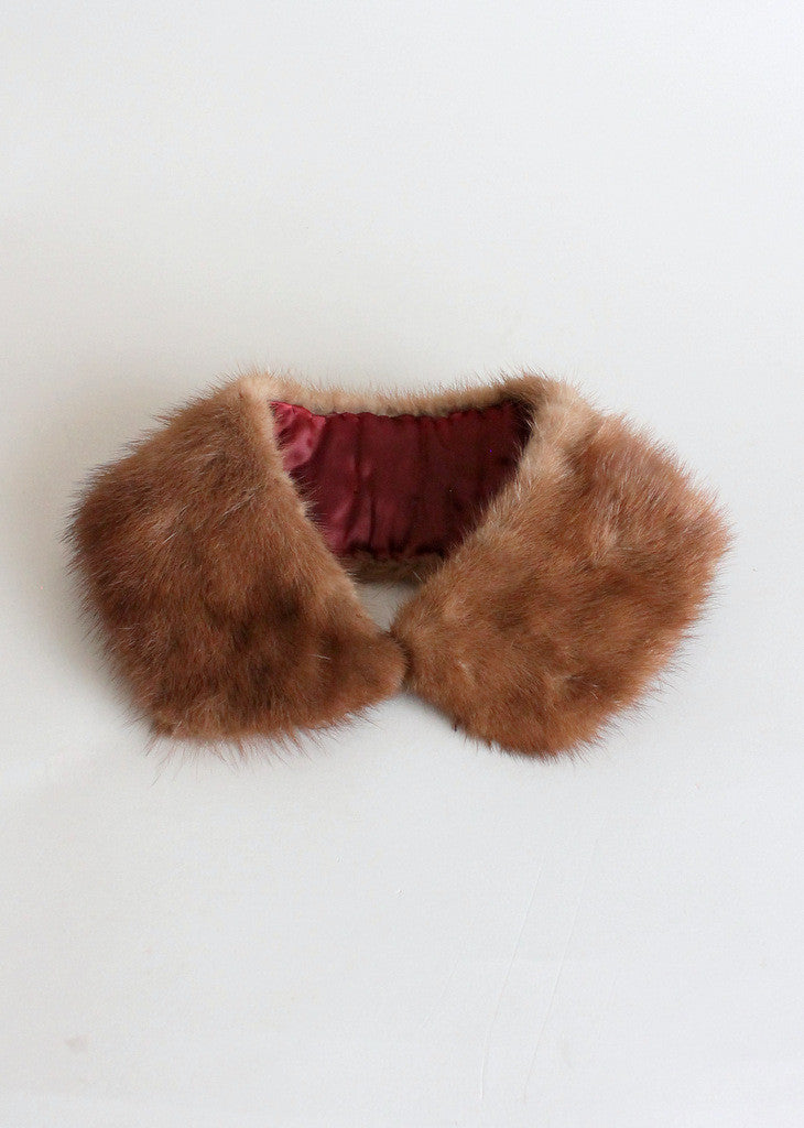 1960s mink fur collar