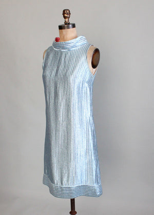 Vintage 1960s Miss Arkin MOD Lame Dress