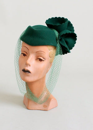 Vintage 1960s Mr. John Green Art Deco Revival Hat