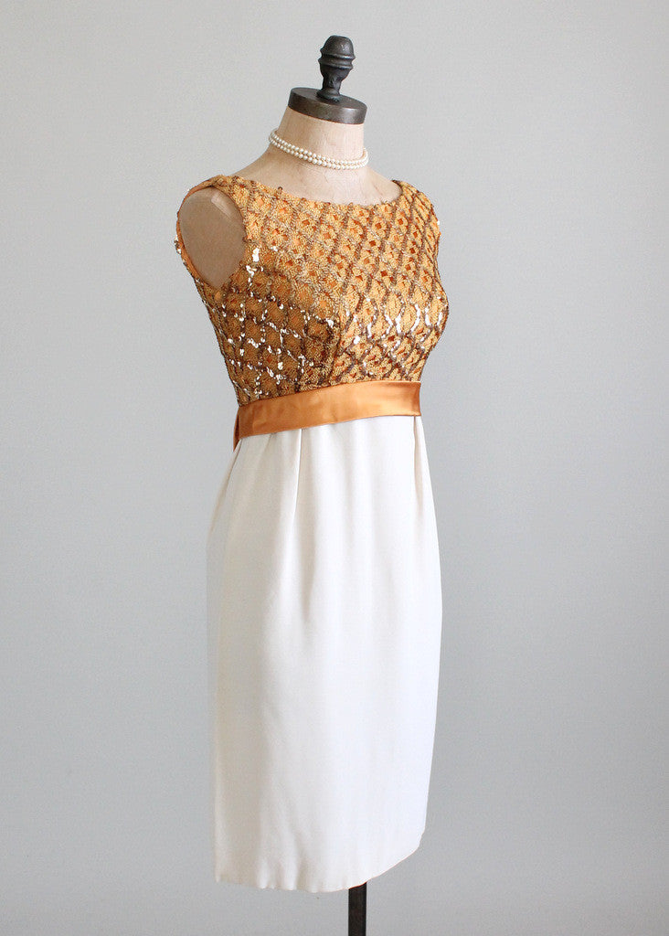 Vintage 1960s NOS Sequined Wiggle Dress