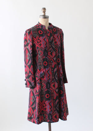 Vintage 1960s Abstract Tapestry Coat