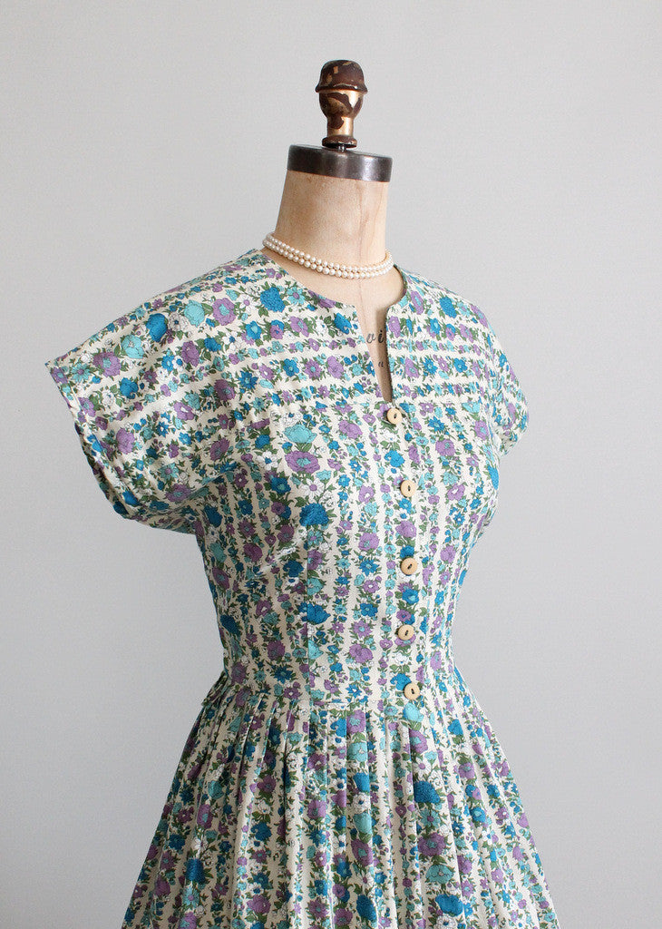 1960s Dixie Lou Frock cotton dress