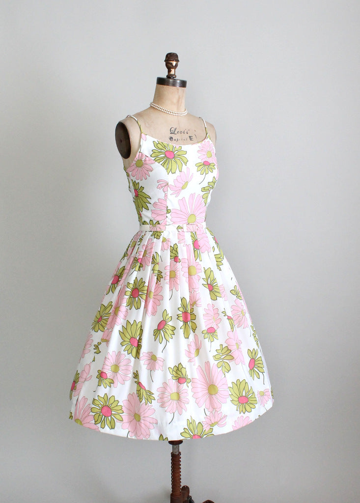 1960s floral mad men sundress