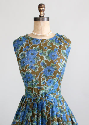 Vintage 1960s English Garden Day Dress