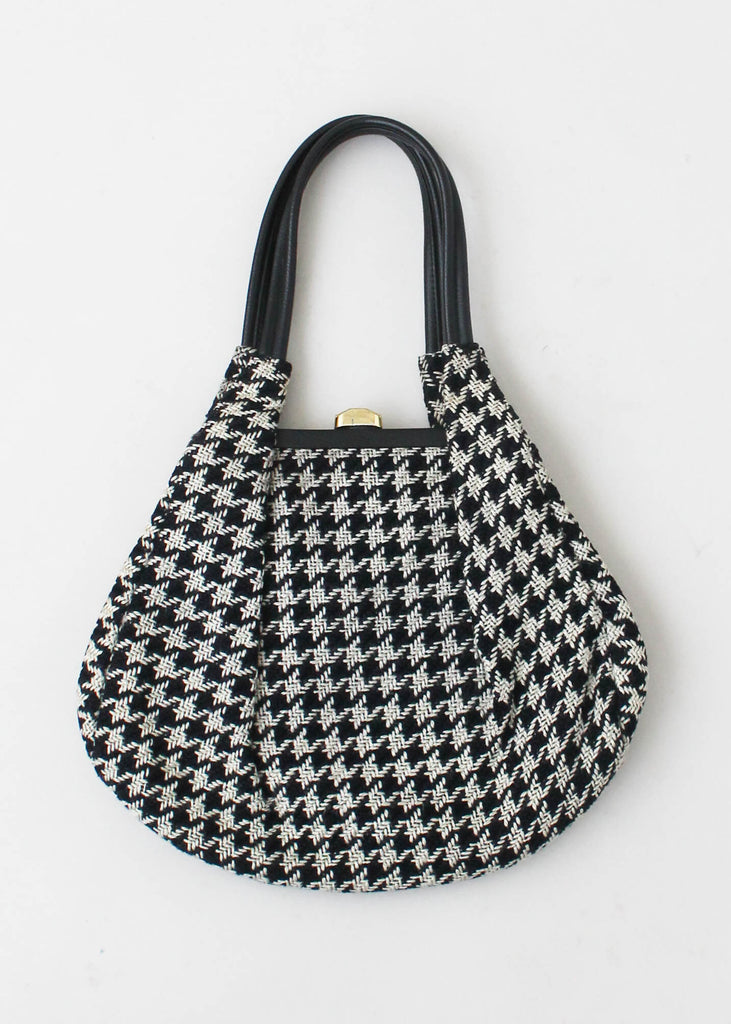 Vintage 1960s Wool Houndstooth Purse