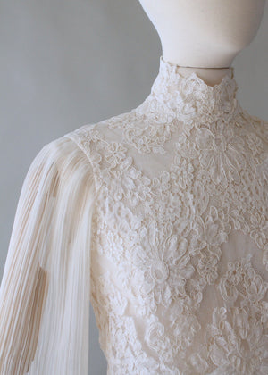 Vintage 1960s Lace Butterfly Sleeve Blouse