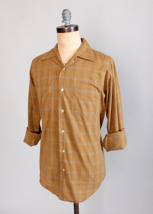 Vintage 1960s Norris Plaid Button Down Shirt