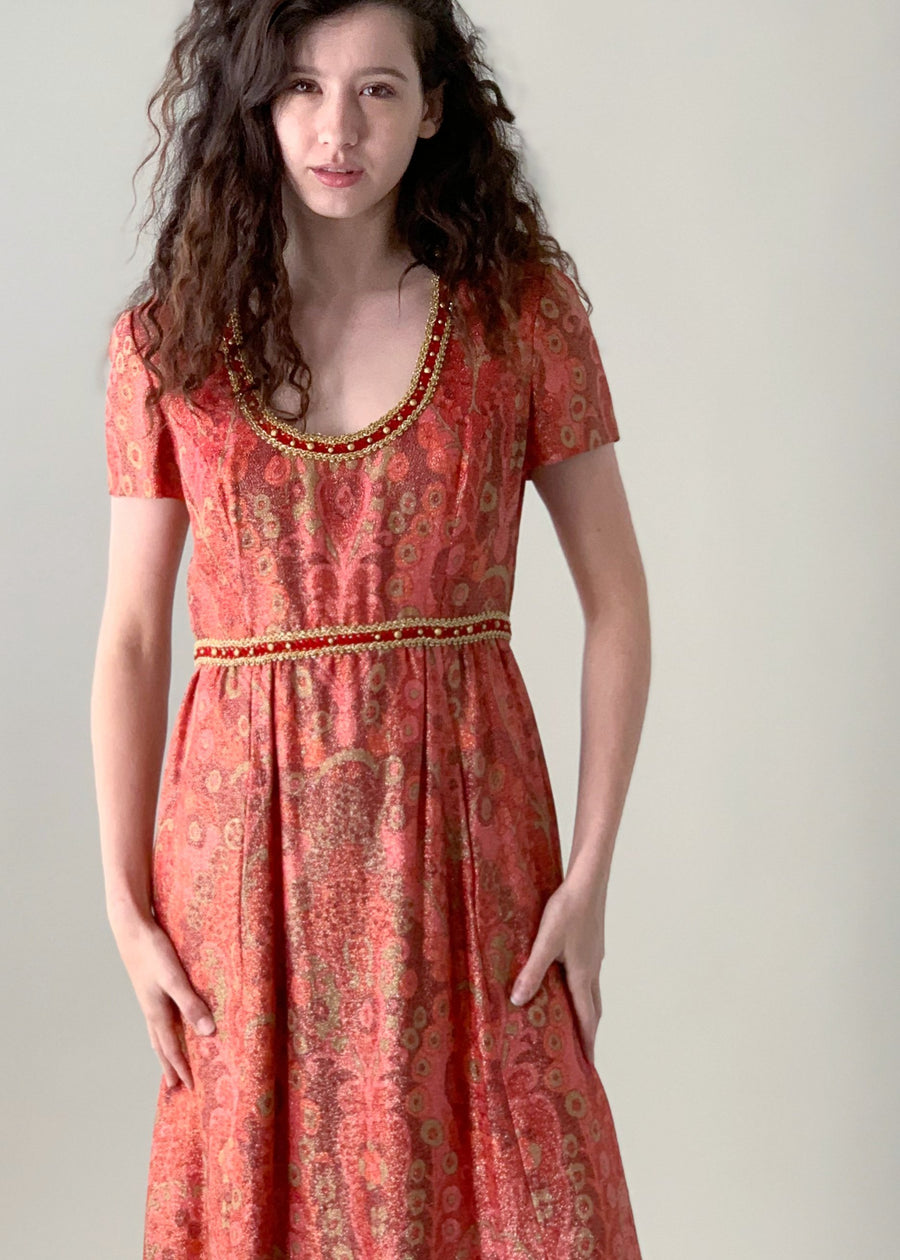 Vintage 1960s Gino Charles Lurex Dress