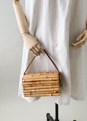 Vintage 1960s Bamboo Box Purse