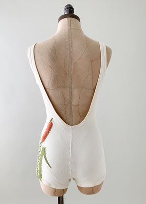 Vintage 1960s Appliqué Swimsuit