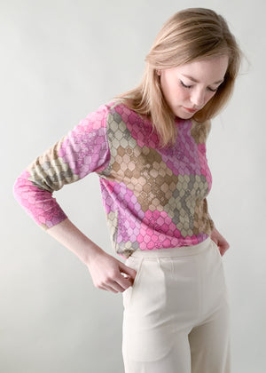 Vintage 1960s MOD Geometric Sweater