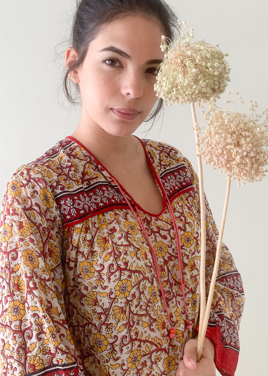 Vintage 1970s Indian Cotton Blouse