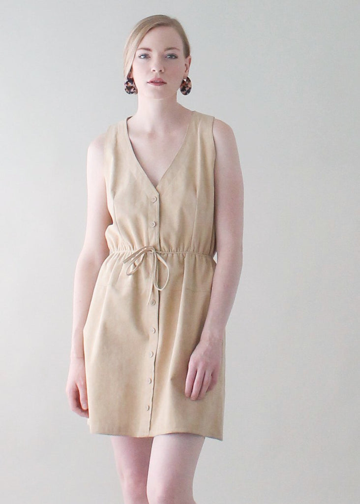 Vintage 1980s Bill Blass UltraSuede Mini Dress
