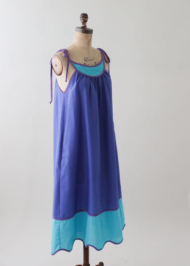 Vintage 1970s Bill Tice Color Block Sundress