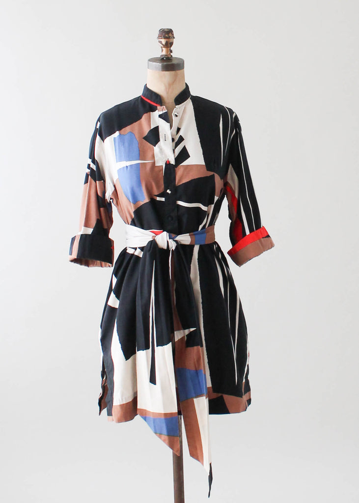 Vintage 1970s Catherine Ogust Color Block Dress