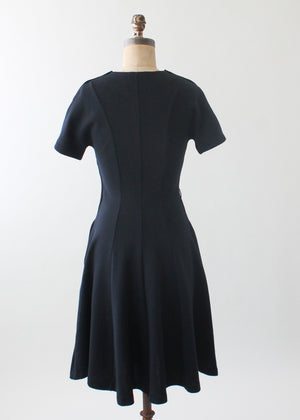 Vintage 1970s Crissa Italian Knit Little Black Dress