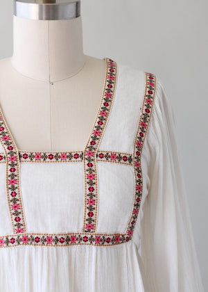 Vintage 1970s Gunne Sax Billowy Sleeves Festival Blouse