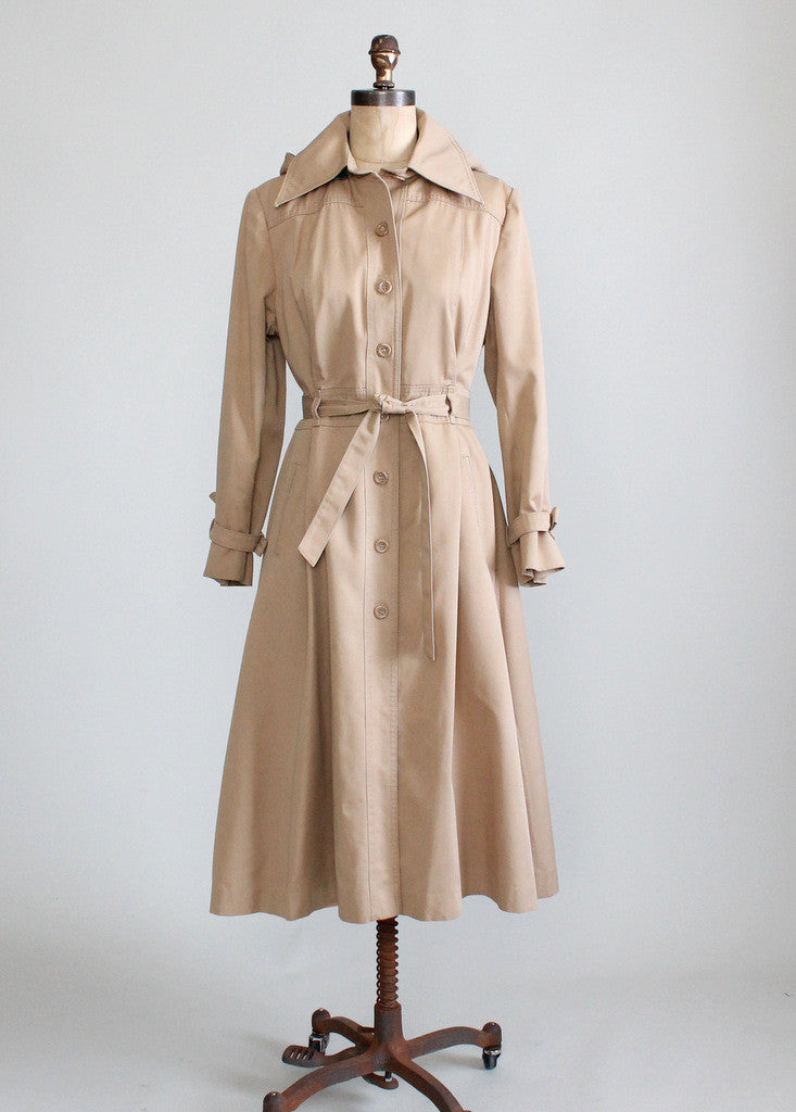 Vintage 1970s princess cut trench coat