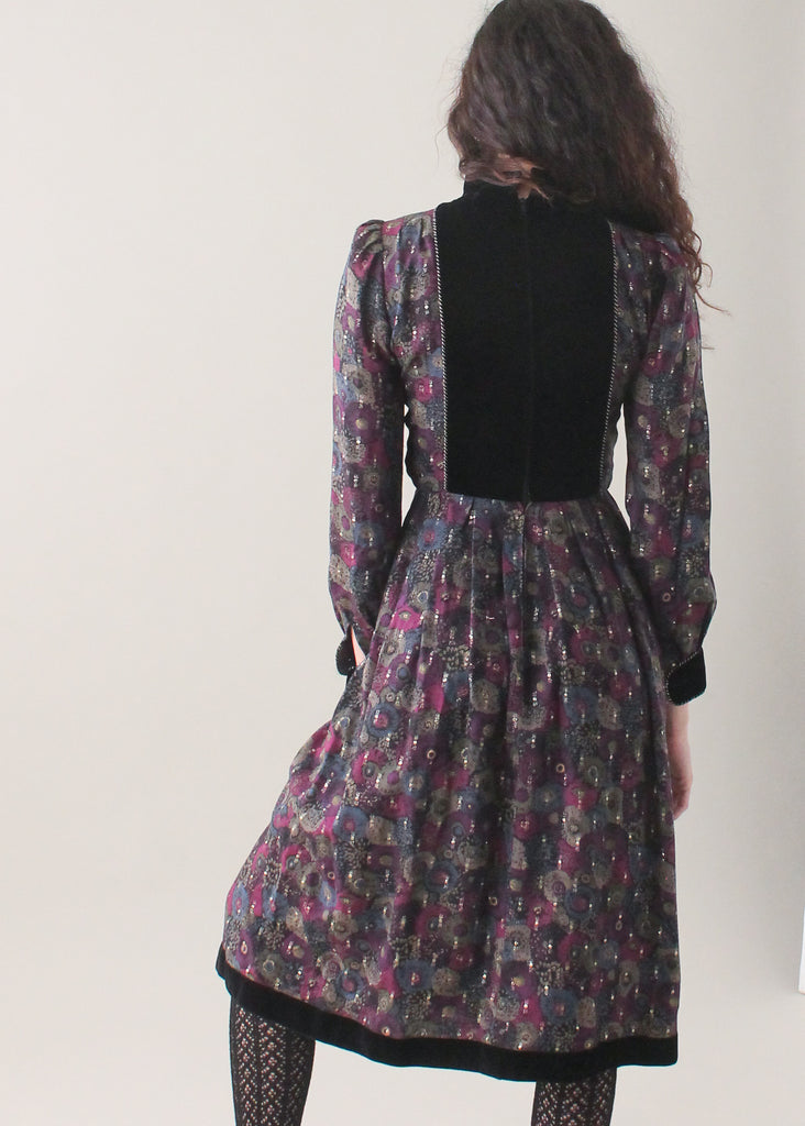 Vintage 1970s Nina Ricci Sweetheart Dress