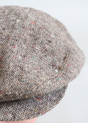 Vintage 1970s Tweed Newsboy Hat