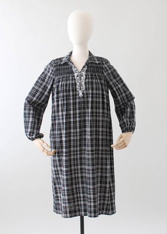 Vintage 1970s Treacy Lowe Indian Cotton Dress