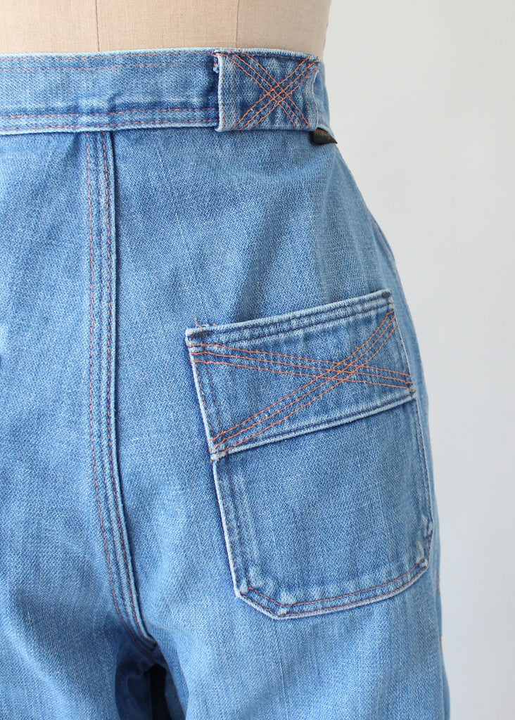 Vintage 1970s Wrangler Bell Bottoms With Stitched Sides