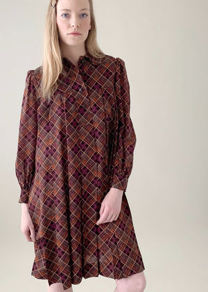 Vintage Yves Saint Laurent Plaid Dress