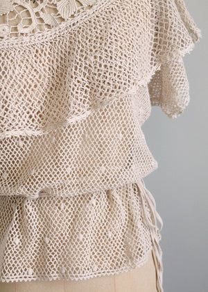 vintage crochet clothing