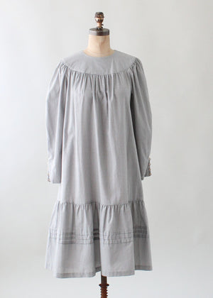 Vintage 1970s Polka Dot Cotton Tent Dress
