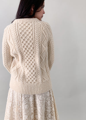 Vintage 1970s Irish Cable Knit Fisherman Sweater