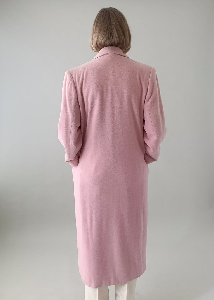 Vintage 1970s Pink Camel Hair Coat