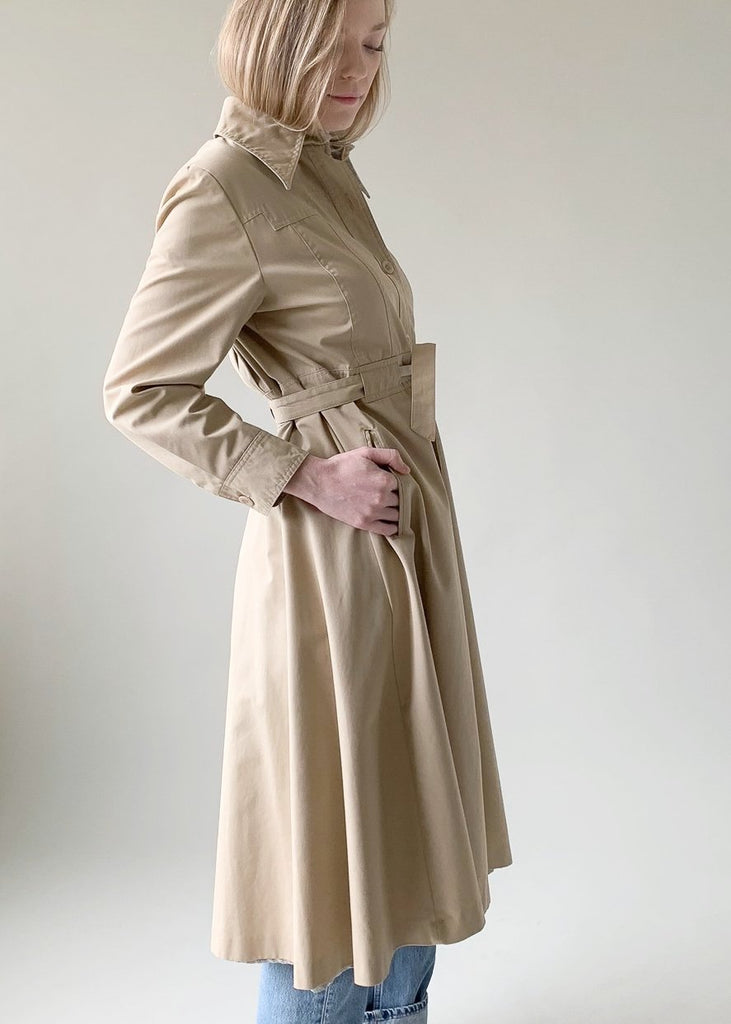 Vintage 1970s City Tan Rain Coat
