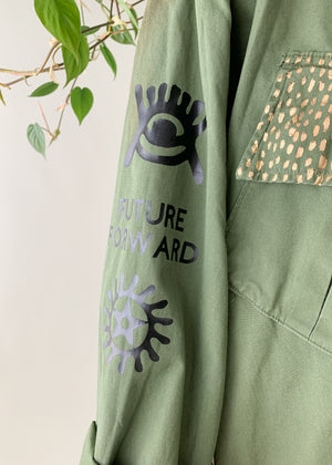 Artist Adapted Protest Army Jacket